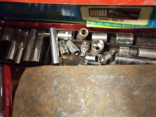 Nut drivers  allen wrenches  socket set  wrenches