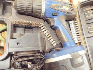 Cordless drill GTV with charger drill bits