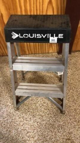 2 step aluminum ladder