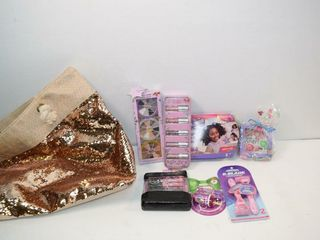 Glitter Bag of Teenager Makeup  etc