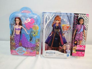 3 Dolls   1 Barbie   1 Frozen II Singing Anna
