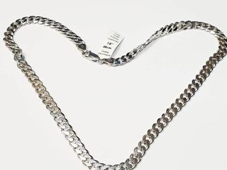 Silver Cuban 18  32 6G Necklace  BZ082M 55