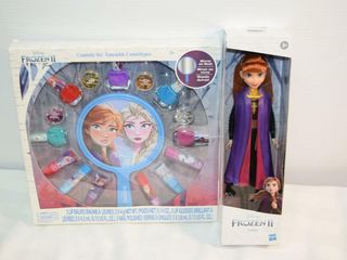 Frozen II Anna Doll   Cosmetic Set
