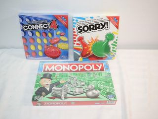 Games   Connect 4  Monopoly   Sorry