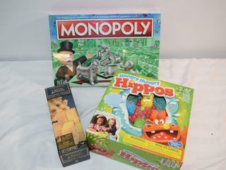 Games   Hungry Hippos  Monopoly