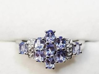 Silver Tanzanite 1 2ct  Ring  BZ082M 61   D2