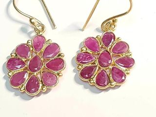 Silver Ruby Earrings  BZ082M 63   D2