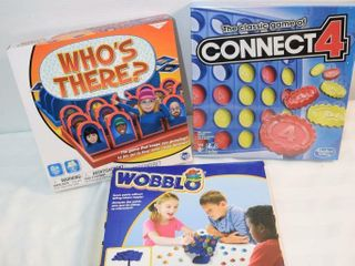 Games   Connect 4  Wobblo  Who s There