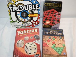 Checkers  Chines Checkers  Yahtzee