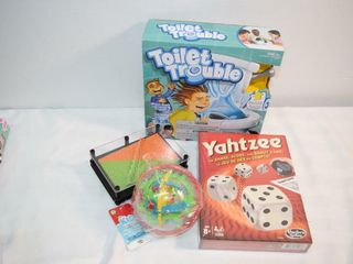 Games incl Yahtzee   Toilet Trouble