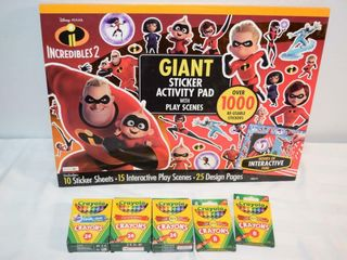 Incredibles 2 Sticker Sheets   Crayons