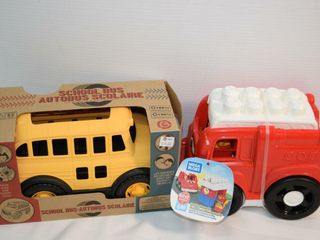 Mega Bloks Freddy Fire Truck   School Bus