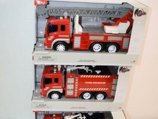 3 Toy Fire Trucks