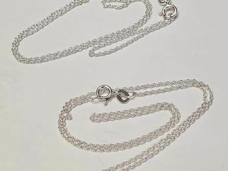 Silver Pack Of 2 16  Necklace  BZ082M 74   D2