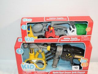 Utility Trucks   Multi Tool Drill Playset