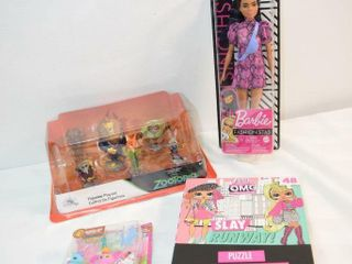 Assorted Toys  incl 1 Barbie   Puzzle