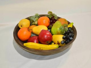 Wooden Bowl with Fruit