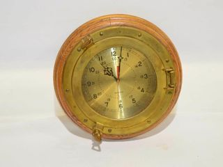 Brass Port Hole Clock  13 5