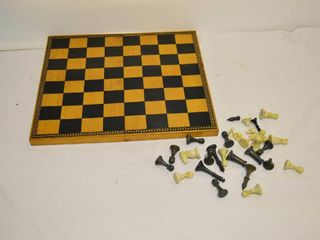 Wooden Chess Board with Pieces  some