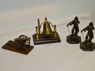 Tray of Metal Bookends  Bell  Canon Decor