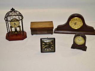 Tray of Assorted Clocks  Music Box