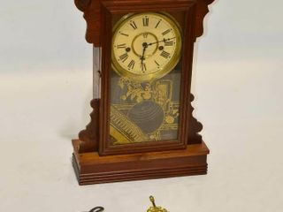 Gingerbread Clock with Pendulum and Key