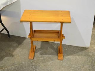 Wooden End Table with Shelf