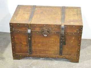 Wooden Trunk with Contents
