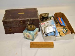 Jewelry Chest with Contents and Tray of Assorted