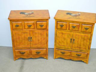 2  Rooster Decorated Cabinets