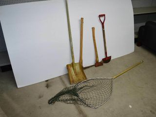 Grp  of Garden Tools  Fishing Net