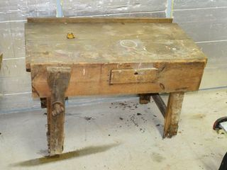 Vintage Wooden Workbench  46  x 24