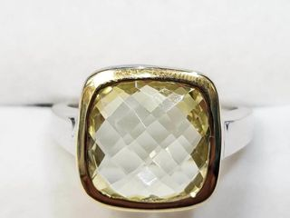 Brass lemon Topaz 5 8ct  Ring  BZ082M 84   D2