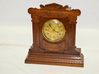 Mantle Clock with Key and Pendulum