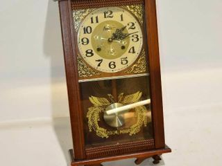 Wall Clock with Key and Pendulum