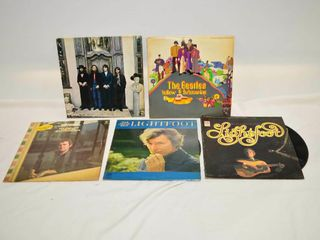 Beatles and Gordon lightfoot Vinyl Records