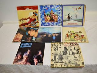 Grp  of Rolling Stones Vinyl Records
