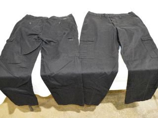 2  Pair of Dickies Black Cargo Pants  36 x 34
