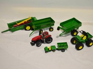 Box of Assorted Farm Toys