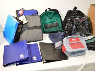 Backpacks  Binders and lunch Bags