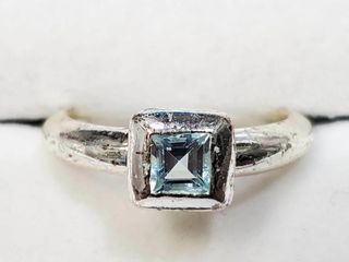 Silver Blue Topaz 0 5ct  Ring  BZ082M 89   D2