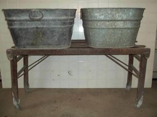 Beatty Washstand with 2 Wash Tubs