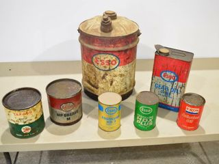 Grp  of Old Oil Cans