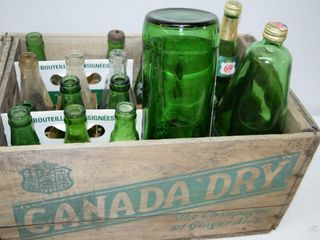 Canada Dry Case and Bottles