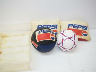 Pepsi Slippers  need cleaning    Balls in Tote