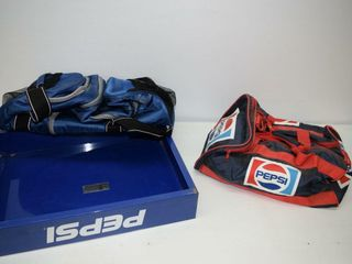 Pepsi Duffle Bags and Metal Case