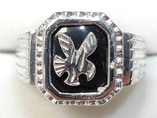 Silver Eagle Ring  weight 7 3g   BZ082M 98