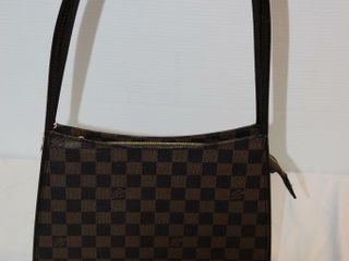 ladies Damier Pattern Shoulder Bag