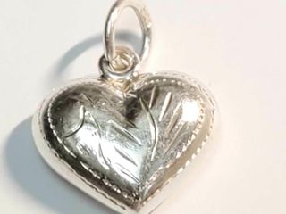 Silver Heart Shaped Pendant Necklace  length