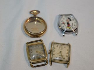3 Vintage Watches   Pocket Watch Casing